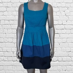Be Bop Pintuck Top Sleeveless Tiered Blues Dress